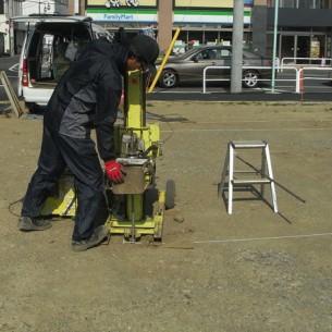 東京都稲城市 L様事務所用ログハウス新築工事 【地盤調査】