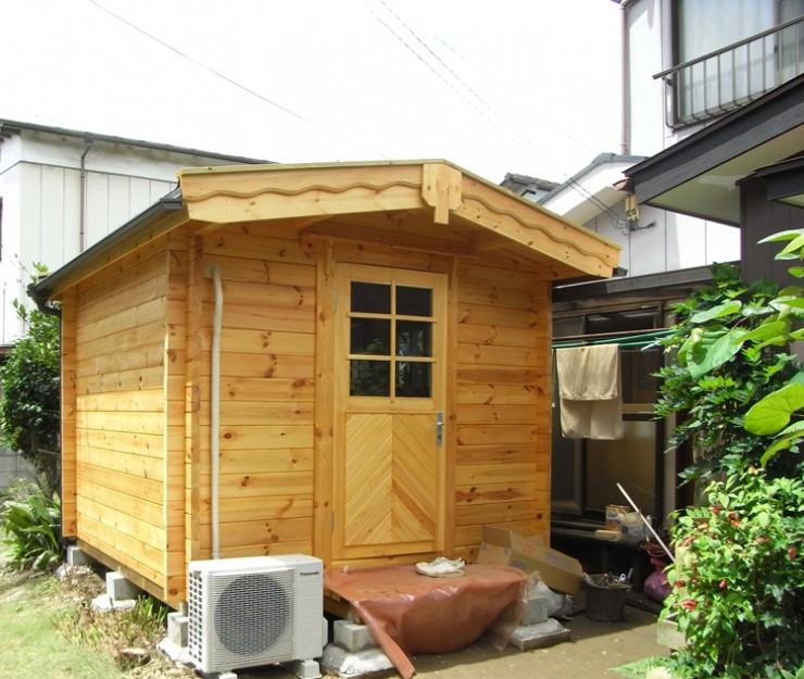 東京都稲城市S様 ミニログハウス 〔PLAN1 4畳タイプ〕